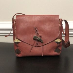 Lucky Brand leather boho chic shoulder purse